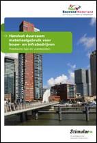 Voorkant Handvat duurzaam materiaalgebruik voor bouw- en infrabedrijven, Stimular en Bouwend Nederland
